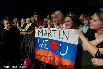 I just have the best musiclovers in Russia.. hugs to you all