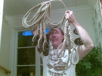 Great man but what a normal person sit at home on a friday evening and splice ropes?