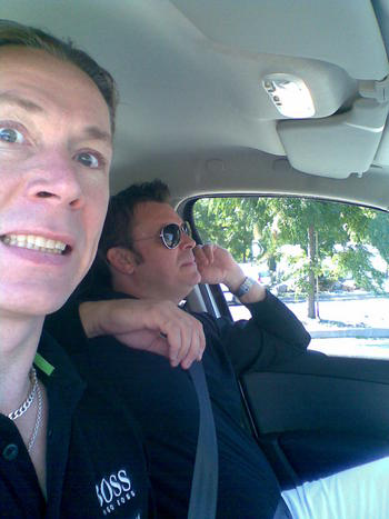 Tommy and me on the way from Nice to Monte Carlo..