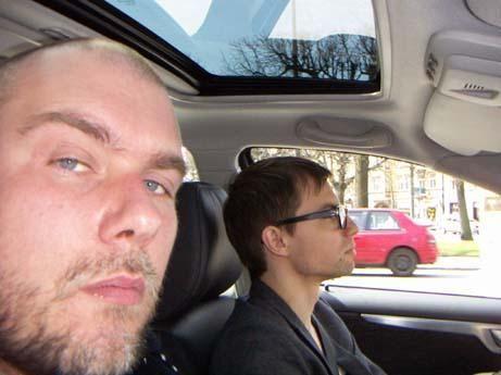 Bengt driving Volvo